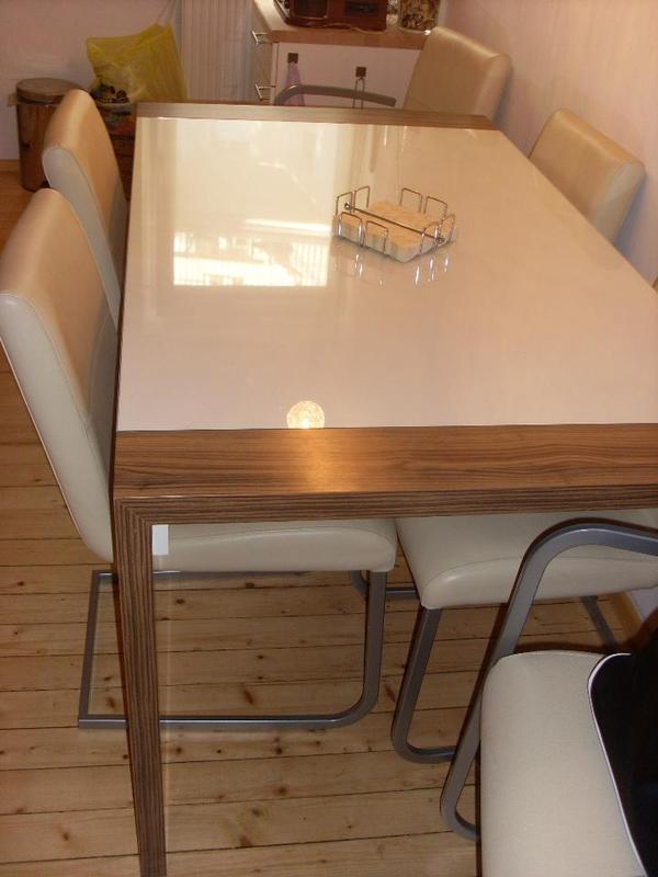 hochwertige kombination esstisch und 6 st hle in n rnberg speisezimmer essecken kaufen und. Black Bedroom Furniture Sets. Home Design Ideas
