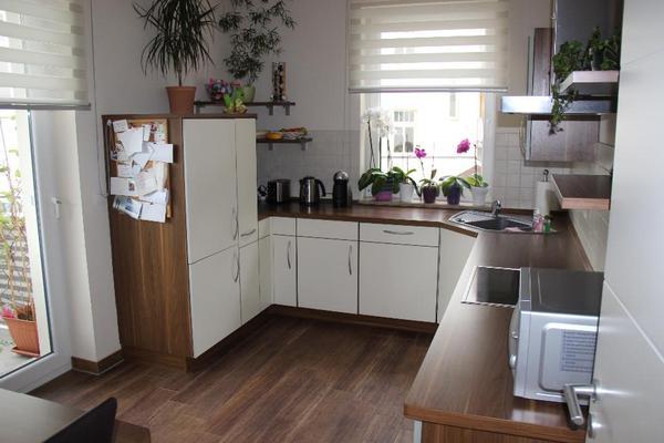 hochwertige moderne und chicke k che einbauk che nobilia vanille amerikanische walnuss top. Black Bedroom Furniture Sets. Home Design Ideas