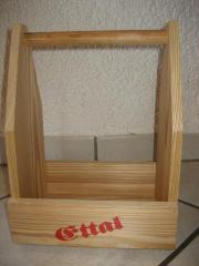 Holztragekasten für 6