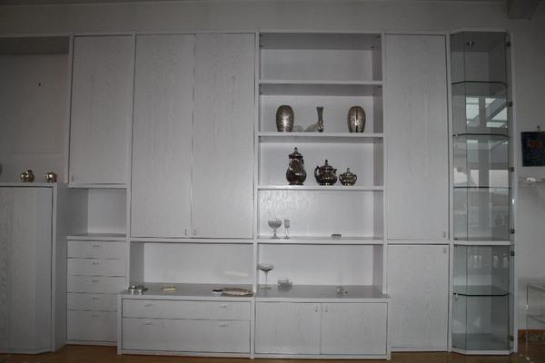 h lsta wohnwand esche weiss breite ca 5 22 m h he ca 2 35 m tiefe ca 0 60 m maximal. Black Bedroom Furniture Sets. Home Design Ideas