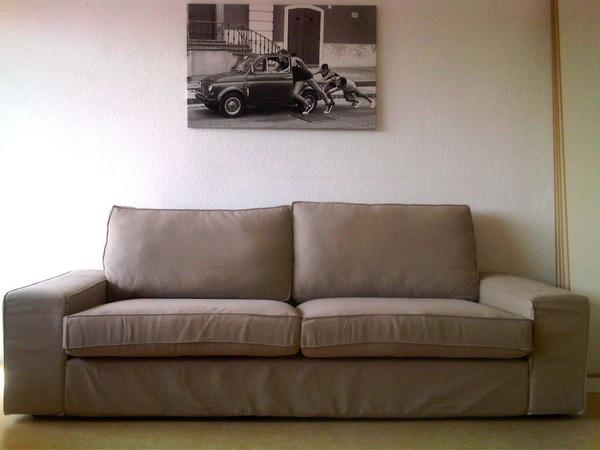 ikea kivik 3er sofa dansbo beige zur selbstabholung neuwertig in mainz ikea m bel kaufen und. Black Bedroom Furniture Sets. Home Design Ideas