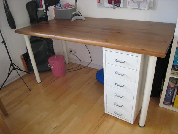 Ikea schreibtisch mit extra schubladenelement in dachau for Schreibtisch extra breit