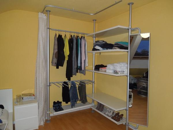 ikea stolmen begehbares kleiderschrank system in stuttgart. Black Bedroom Furniture Sets. Home Design Ideas