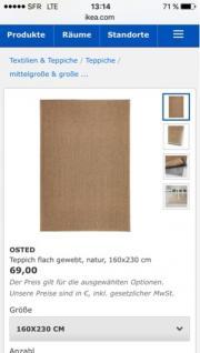 Ikea Teppich braun