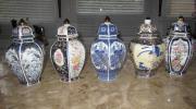 Japanische Deckelvasen