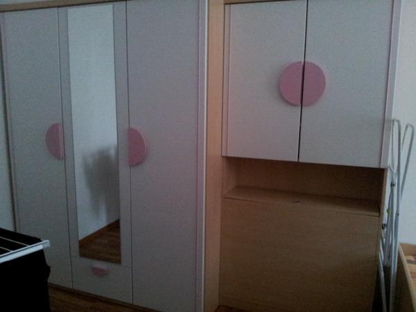 jugendzimmer sehr gut erhalten mit schreibtisch schrank. Black Bedroom Furniture Sets. Home Design Ideas