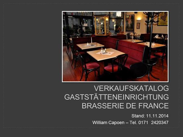 komplette restaurant einrichtung zu verkaufen wegen gesch ftsaufgabe in berlin gastronomie. Black Bedroom Furniture Sets. Home Design Ideas