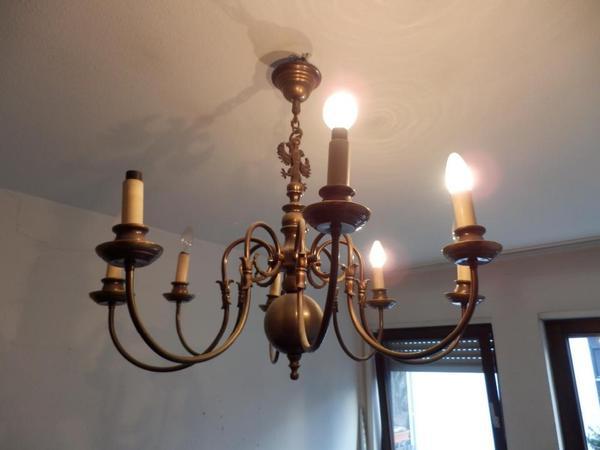 Kronleuchter Messing Doppeladler Lampen