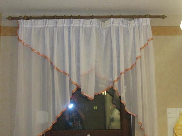 gardinen mit gardinen stange 1 60 cm k chen gardinen mit gardinen. Black Bedroom Furniture Sets. Home Design Ideas