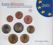 Kursmünzensatz Deutschlanf 2005