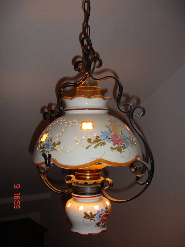 Porzellan lampe neu und gebraucht kaufen bei - Esszimmer lampe landhausstil ...
