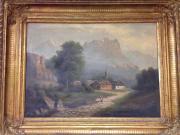 Landschaftsbild, Ölbild, unbekannter