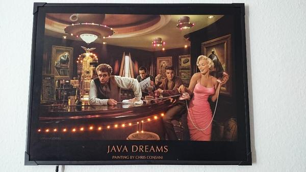 led bild licht bild leuchtbild wandbild james dean elvis marilyn monroe und humphrey bogart. Black Bedroom Furniture Sets. Home Design Ideas