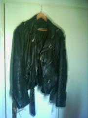Lederjacke, schwarz, Größe