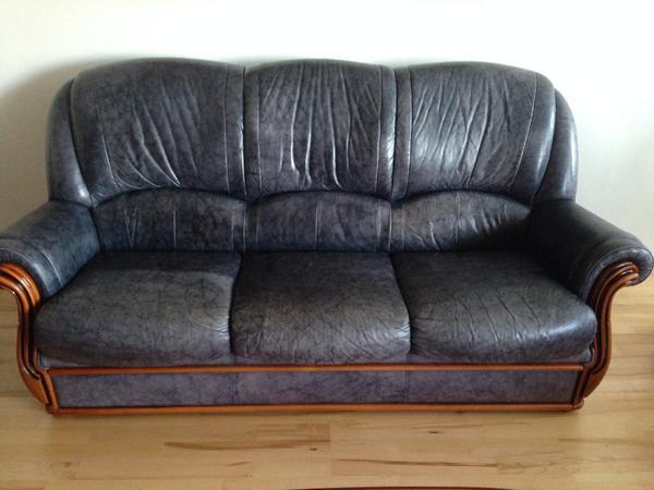 ledersofas 3 sitzer 2 sitzer 1 sitzer in karlsruhe polster sessel couch kaufen und. Black Bedroom Furniture Sets. Home Design Ideas