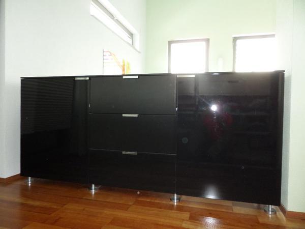 anrichte sideboard b 207 h94 t 44 hochglanzlack. Black Bedroom Furniture Sets. Home Design Ideas