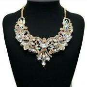 Luxus Kristall Halskette.