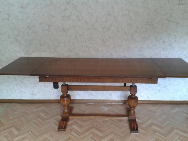 massiver couch bzw esstisch ausziehbar h henverstellbar fast neuwertig in eppstein. Black Bedroom Furniture Sets. Home Design Ideas