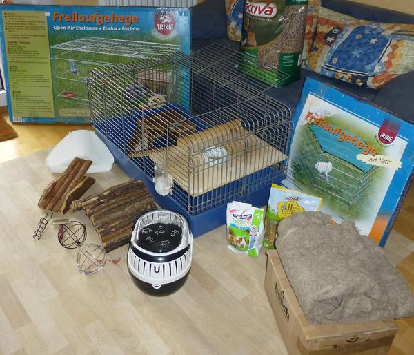 meerschweinchen k fig mit zubeh r in k nzell zubeh r f r. Black Bedroom Furniture Sets. Home Design Ideas
