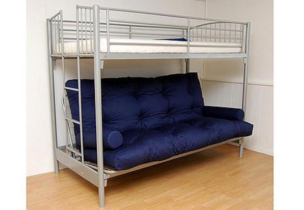 metallbett mit schlafcouch hochbett in offenbach betten. Black Bedroom Furniture Sets. Home Design Ideas