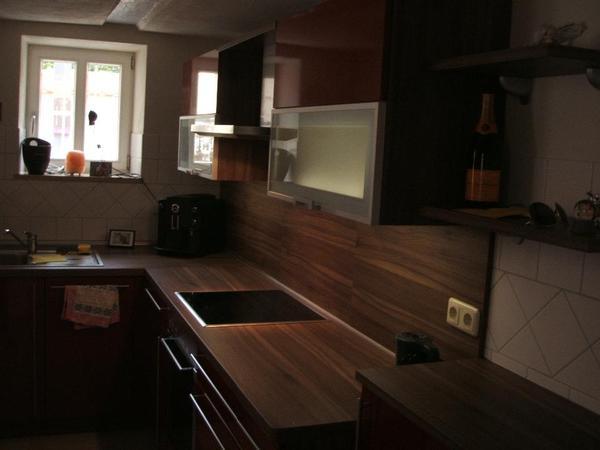 moderne mondo k che l form hochglanz rot in schwabach. Black Bedroom Furniture Sets. Home Design Ideas