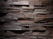 Mosaik Holzwand Eiche