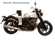 Motorrad-Rahmenvermessung