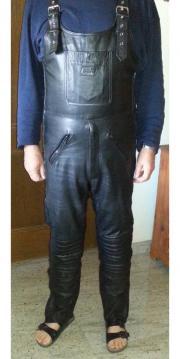 Motorradbekleidung Herren Lederlatzhose