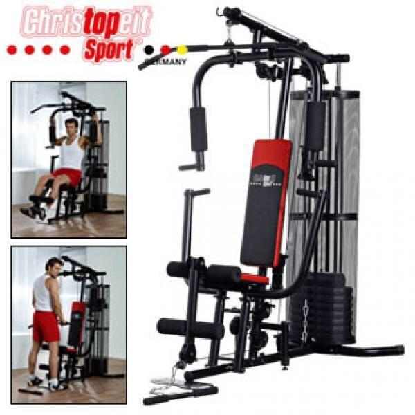 neuwertiger multi trainer deluxe von christopeit fitness station als ausstellungsst ck vor 2. Black Bedroom Furniture Sets. Home Design Ideas