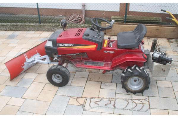 murray rasentraktor mit schneeschild in hattersheim traktoren landwirtschaftliche fahrzeuge. Black Bedroom Furniture Sets. Home Design Ideas