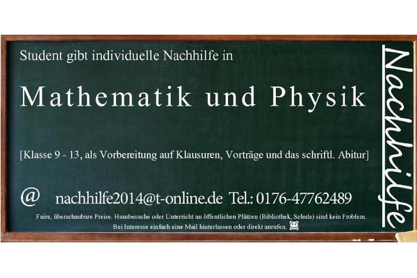 nachhilfe in mathematik und physik kreis g ppingen 73033 in heiningen nachhilfe sonstiger. Black Bedroom Furniture Sets. Home Design Ideas