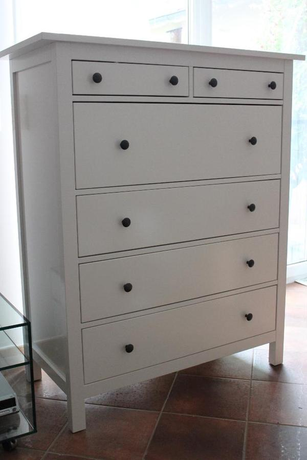nagelneu hemnes kommode 6 schubladen weiss in w llstadt ikea m bel kaufen und verkaufen ber. Black Bedroom Furniture Sets. Home Design Ideas