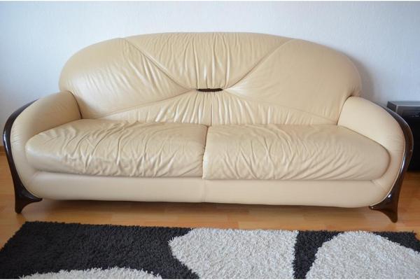 nieri ledersofa 3 teilig in buchen polster sessel couch kaufen und verkaufen ber private. Black Bedroom Furniture Sets. Home Design Ideas