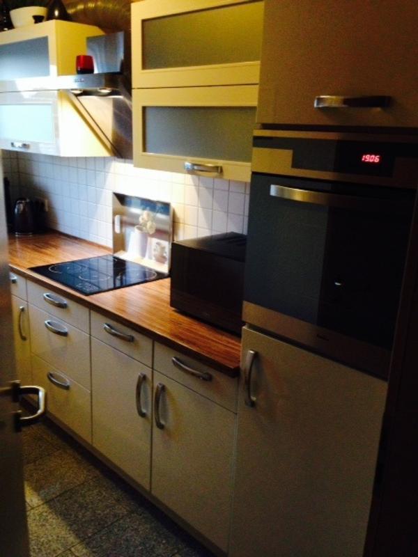 Nobilia Küche PRIMO Crema Hochglanz inkl E Geräte in Solingen Küchenzeilen, Anbauküchen