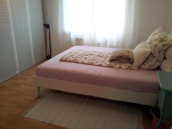 nordli bettgestell 160cm wei mit matratze und lattenrosten in n rnberg matratzen rost. Black Bedroom Furniture Sets. Home Design Ideas