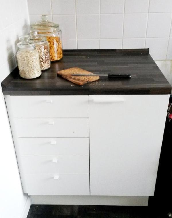 nur bis 24 9 ikea k che 2x 40cm unterschr nke mit. Black Bedroom Furniture Sets. Home Design Ideas
