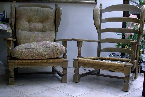 ohrensessel eichenst hle worpswerder stil in m nchen stilm bel bauernm bel kaufen und. Black Bedroom Furniture Sets. Home Design Ideas