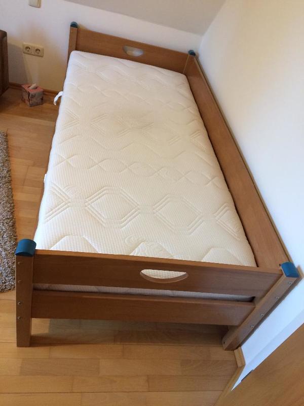 paidi jugendbett mit matraze und lattenrost 1 5 jahre alt 90x200 cm in gr felfing betten. Black Bedroom Furniture Sets. Home Design Ideas