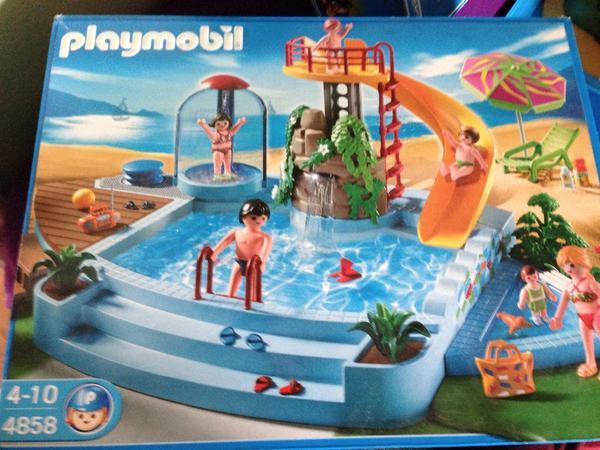 playmobil 4858 freibad mit rutsche in stuttgart spielzeug lego playmobil kaufen und. Black Bedroom Furniture Sets. Home Design Ideas