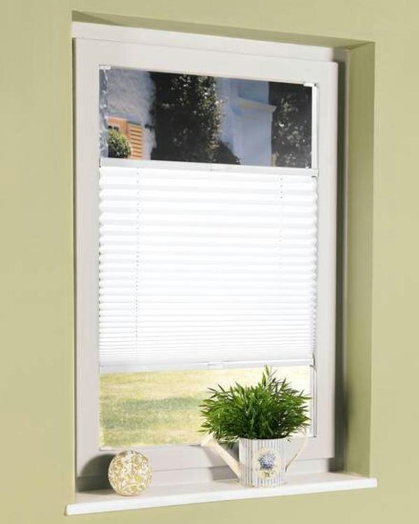 Gardinen Fenster Heizung : Plisee weiß oder beige 45×130 zuschneidbar in Essenbach  Gardinen