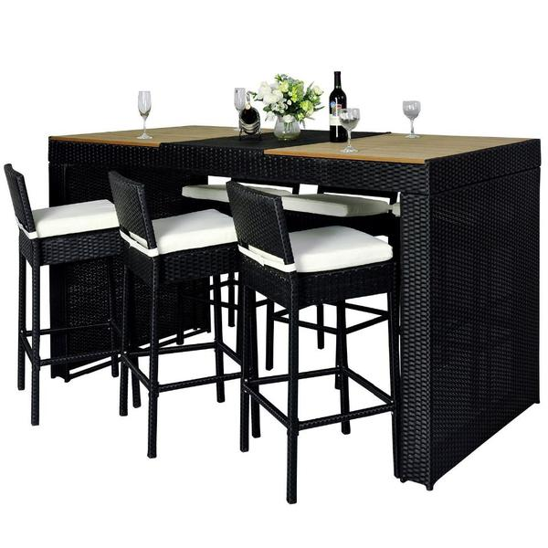 polyrattan gartenm bel 13 teile bar mit viel platz zum. Black Bedroom Furniture Sets. Home Design Ideas