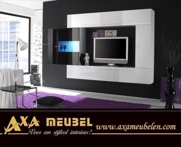 preisgünstige Anbauwand hochglanz Wohnwände AXA Moebel Angebot in ...