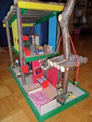 Puppenhaus - Baumhaus komplett