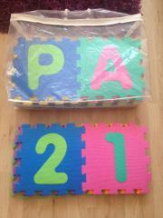 Puzzlematte, Bodenpuzzle, Buchstaben