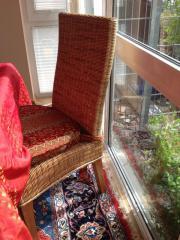 Rattan-Esszimmerstühle mit