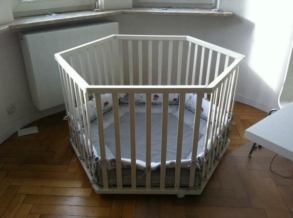 roba laufstall weiss 6 eckig adam eule igel in mannheim laufstlle hochsthle zubehr. Black Bedroom Furniture Sets. Home Design Ideas