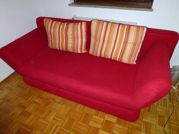 Rotes schlafsofa in m nchen polster sessel couch for Rotes schlafsofa