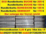 Rund Holzbrike BUCHE-