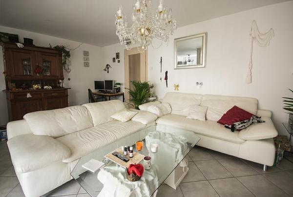 schilling wei es ledersofa 2sitzer und 3sitzer in m nchen kaufen und verkaufen ber private. Black Bedroom Furniture Sets. Home Design Ideas