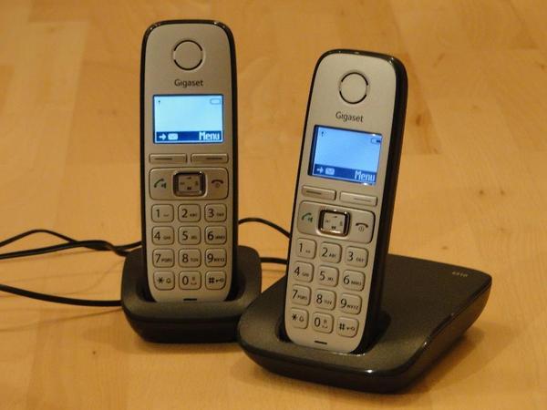 schnurlostelefon mit zwei mobilteilen gigaset e310 duo. Black Bedroom Furniture Sets. Home Design Ideas